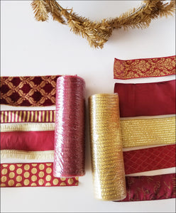 Burgundy & Gold DIY Wreath Kit - Designer DIY