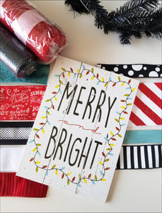 Merry & Bright Christmas DIY Wreath Kit - Designer DIY