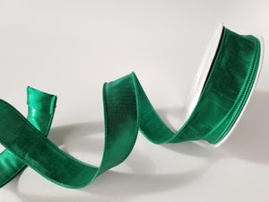 "1.5"" Green Metallic Ribbon - Designer DIY"