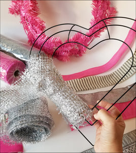 Valentine Heart DIY Wreath Kit - Designer DIY