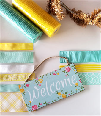 Spring Welcome DIY Wreath Kit - Designer DIY
