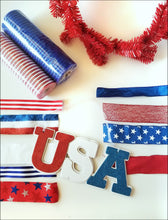 Load image into Gallery viewer, USA Patriotic DIY Wreath Kit - Designer DIY