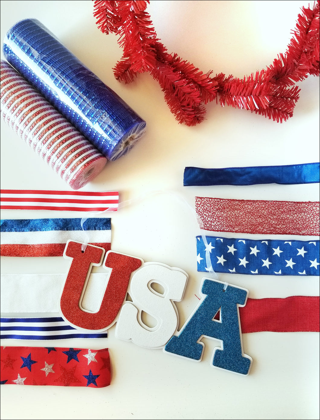 USA Patriotic DIY Wreath Kit - Designer DIY