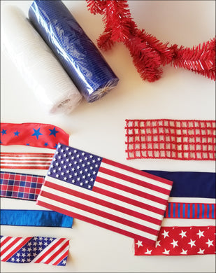 American Flag Patriotic DIY Wreath Kit - Designer DIY