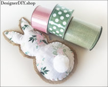 Load image into Gallery viewer, Bunny Plush | White & Pink Floral - Designer DIY