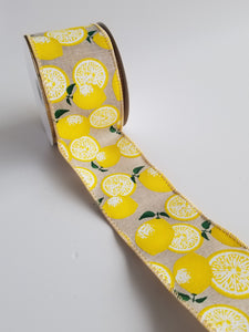 "2.5"" Lemon Ribbon - Designer DIY"