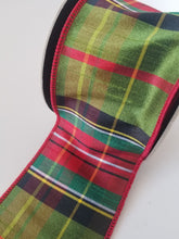 "Load image into Gallery viewer, 2.5"" Christmas Plaid DESIGNER Ribbon - Designer DIY"
