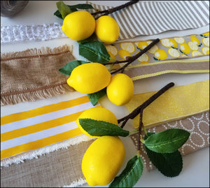 Lemon DIY Wreath Kit - Designer DIY