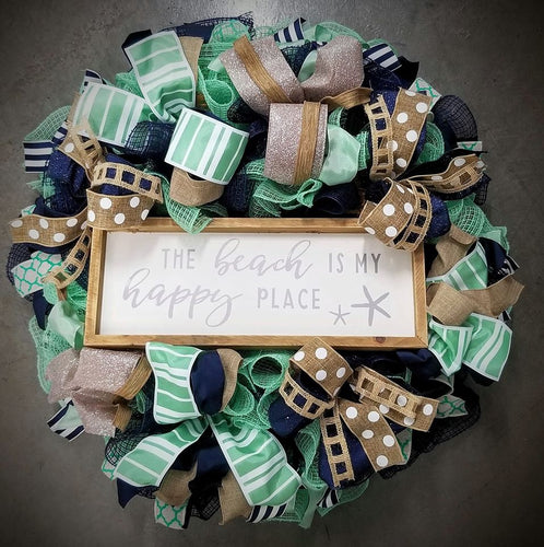 The Beach Is My Happy Place Wreath - Designer DIY