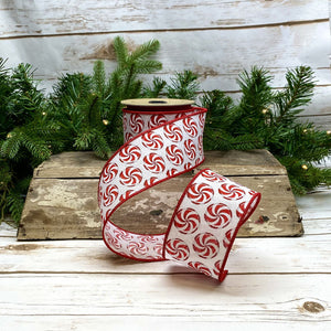 "2.5"" Peppermint DESIGNER Ribbon 