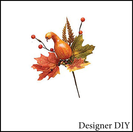 Gourd Pick with Fall Leaves & Berries - Designer DIY