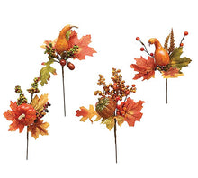 Load image into Gallery viewer, Gourd Pick with Fall Leaves & Berries - Designer DIY