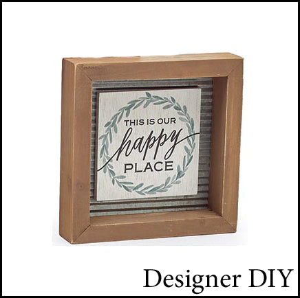 This is Our Happy Place Framed Sign - Designer DIY