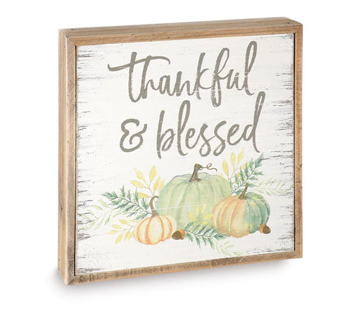 Thankful & Blessed Fall Pumpkin Sign - Designer DIY