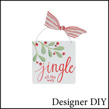 Load image into Gallery viewer, Christmas Holly Ornament | Jingle All The Way - Designer DIY