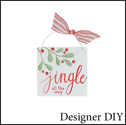 Christmas Holly Ornament | Jingle All The Way - Designer DIY