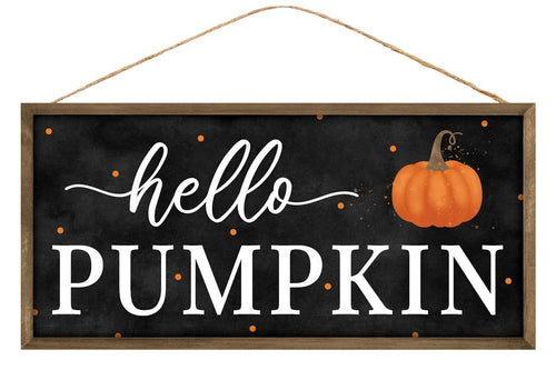 Hello Pumpkin Sign - Designer DIY