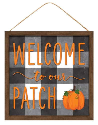 Welcome To Our Patch Sign - Designer DIY