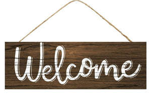 Welcome Dark Brown Sign - Designer DIY