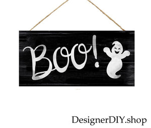 BOO Ghost Sign | Black & White - Designer DIY