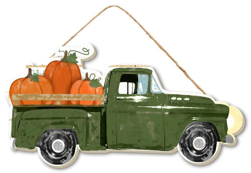 Fall Truck with Pumpkins Sign - Designer DIY