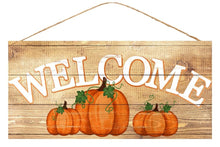 Load image into Gallery viewer, Welcome Fall Pumpkin Sign - Designer DIY