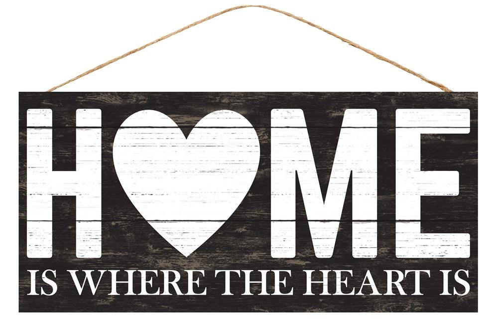 Home Is Where The Heart Is Sign - Designer DIY
