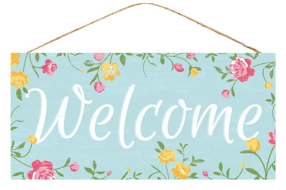 Floral Welcome  Sign - Designer DIY
