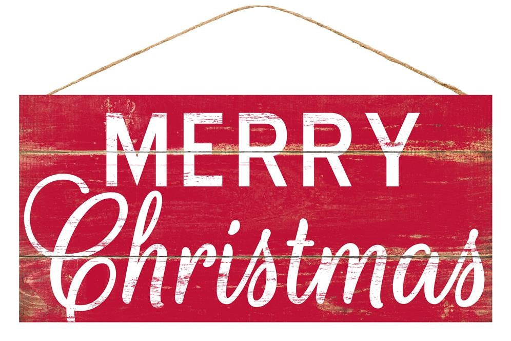 Merry Christmas Red Sign - Designer DIY