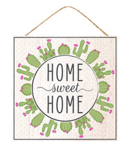 Load image into Gallery viewer, Home Sweet Home Cactus Sign - Designer DIY