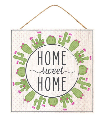 Home Sweet Home Cactus Sign - Designer DIY