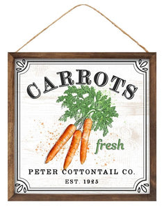 Carrots Sign - Designer DIY