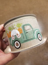 "Load image into Gallery viewer, 2.5"" Bunny in Aqua Truck Easter Ribbon - Designer DIY"