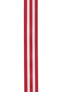 "1"" Red Stripe DESIGNER Ribbon 