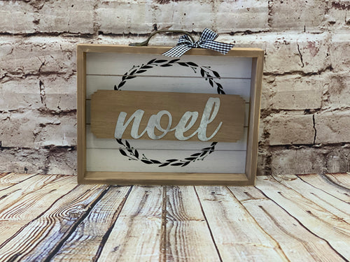 Noel Shadowbox Sign - Designer DIY