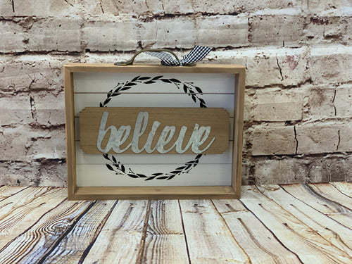 Believe Shadowbox Sign - Designer DIY