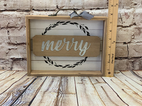Merry Shadowbox Sign - Designer DIY