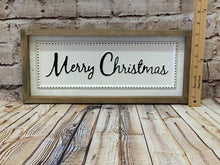 Load image into Gallery viewer, Merry Christmas | White Metal Sign - Designer DIY