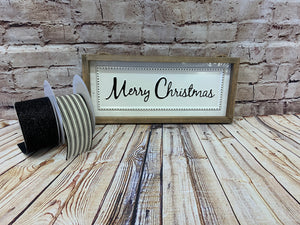 Merry Christmas | White Metal Sign - Designer DIY