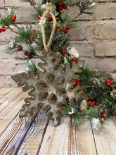 Load image into Gallery viewer, Rustic Snowflake Ornament - Designer DIY