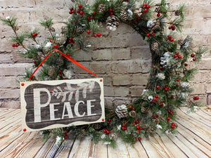 Peace | Holiday Sign - Designer DIY