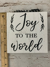 Load image into Gallery viewer, Joy To The World Wood Block - Designer DIY