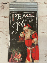 Load image into Gallery viewer, Peace and Joy Santa Sign