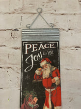 Load image into Gallery viewer, Peace and Joy Santa Sign - Designer DIY
