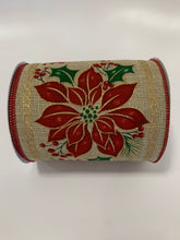 "Load image into Gallery viewer, 5"" Christmas Poinsettia Ribbon - Designer DIY"