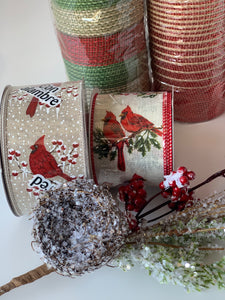 Frosted Nest & Berries Pick - Designer DIY