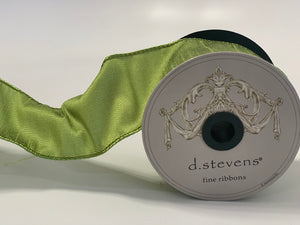 "2.5"" Apple Green DESIGNER Ribbon - Designer DIY"