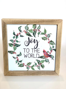 Joy To The World | Cardinal Sign - Designer DIY
