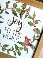 Load image into Gallery viewer, Joy To The World | Cardinal Sign - Designer DIY