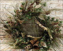 Load image into Gallery viewer, Pine Wreath with Leaves, Bells, and Pine Cones - Designer DIY